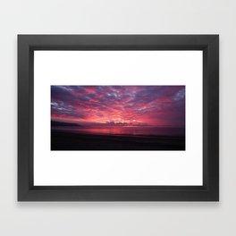 sunset clouds Framed Art Print