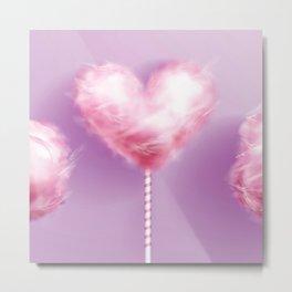 Pink Cotton Candy on Lavender  Metal Print