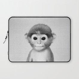 Baby Monkey - Black & White Laptop Sleeve