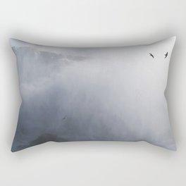 From below where all the water falls, Niagara 02 Rectangular Pillow