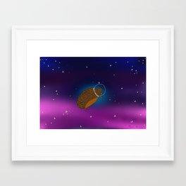 Hedgehog Astronaut Framed Art Print