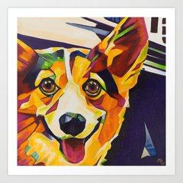 Pop Art Corgi Art Print