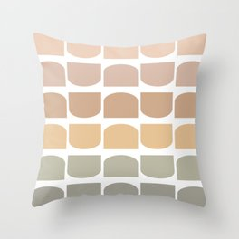 Shapes in Sand Throw Pillow