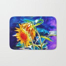 Sunflowers By Annie Zeno Bath Mat