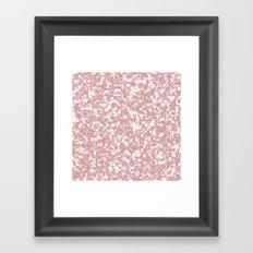 Bridal Rose Pixels Framed Art Print