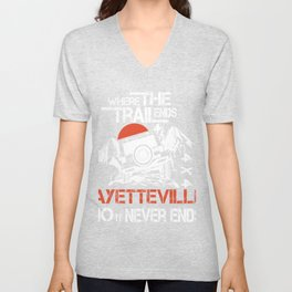 Eagles Fayetteville where the trailends city no it never ends women Unisex V-Neck