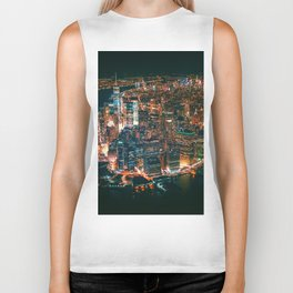 City of Lights New York City (Color) Biker Tank