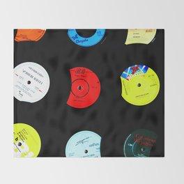 Vinyl Records Version 2 Throw Blanket