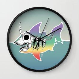 Unicorn Shark Skeleton Wall Clock
