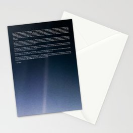 Pale Blue Dot — Voyager 1 (2020 rev.) Stationery Cards