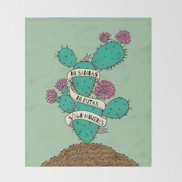 Ni Santas, Ni Putas, Solo Mujeres Gallery Print Throw Blanket