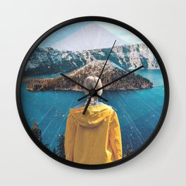 Crater Lake Oregon Wall Clock