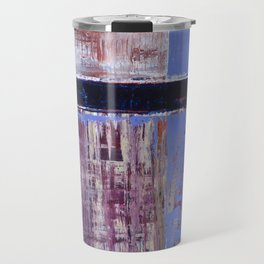 Chagrin Cornflower Blue Abstract Painting Modern Art Travel Mug