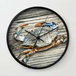 """Busted Peeler"" - Maryland Blue Crab Wall Clock"