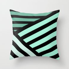 STRIPED {MINT} Throw Pillow