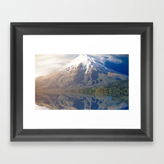 Snow Peak Framed Art Print