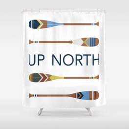 Up North Oars Shower Curtain
