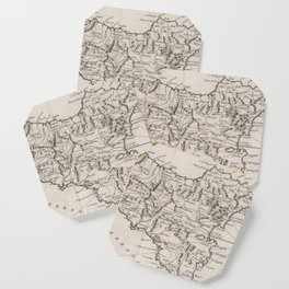 Vintage Map of Sicily Italy (1764) Coaster
