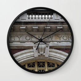 City of New York Wall Clock