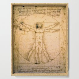 Vitruvian Man by Leonardo da Vinci Serving Tray