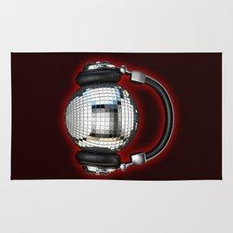 Headphone disco ball Rug