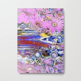 Digital abstract flowers Metal Print