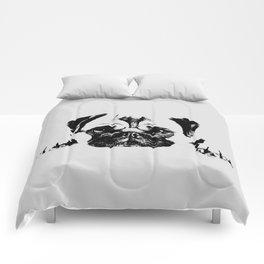 Pug dog Digital Art Comforters