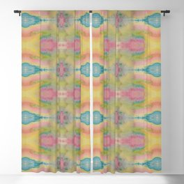 Mirrored Watercolor Blackout Curtain
