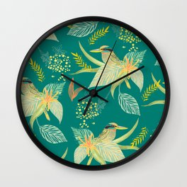 KINGFISHERS PARTY Wall Clock
