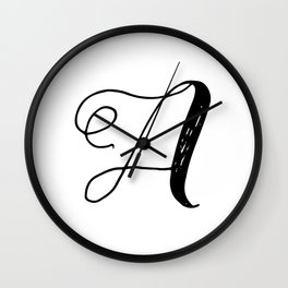 Letter A monogram Wall Clock
