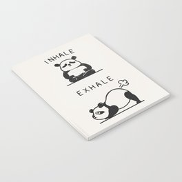 Inhale Exhale Panda Notebook