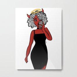 Devilish Metal Print