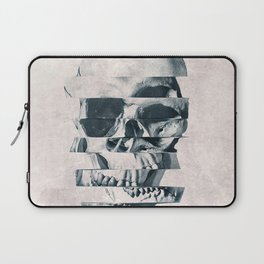 Glitch Skull Mono Laptop Sleeve