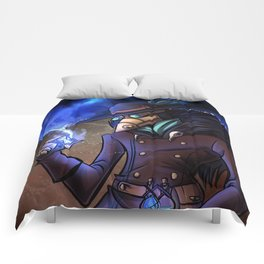 Steampunk Time Traveller Comforters