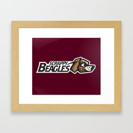 Scrappy Beagles Full Logo Framed Art Print