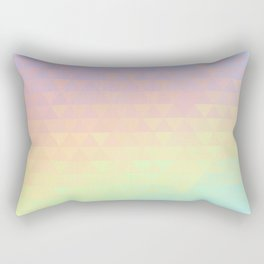 Holographic geometric vector background. 80s and 90s fashion design Rectangular Pillow