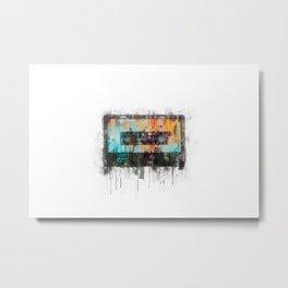 Cassette painting  - Classic Tape retro illustration Metal Print