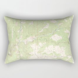 Fiddletown, CA from 1949 Vintage Map - High Quality Rectangular Pillow