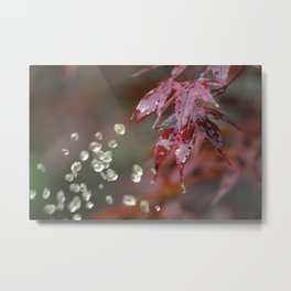Dripping Red Metal Print
