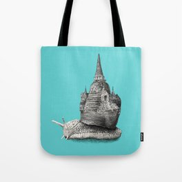 The Snail's Dream (monochrome option) Tote Bag