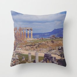 Ancient Corinth Throw Pillow