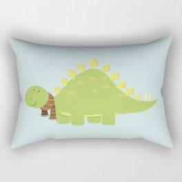 ScarfTegosaurus Rectangular Pillow