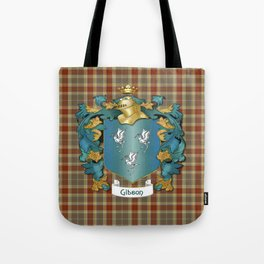 Gibson Coat of Arms and Tartan Tote Bag