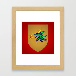 Dragonfire Knot Framed Art Print