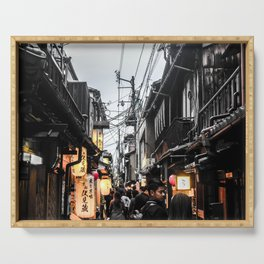 ArtWork Kyoto Japan Black and Colour Serving Tray