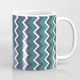 Blue Chevron Coffee Mug