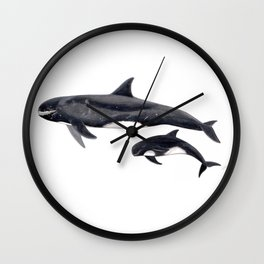 Pygmy killer whale Wall Clock