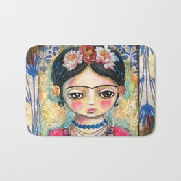 The heart of Frida Kahlo  Bath Mat