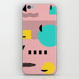 Hello Memphis Peach Berry iPhone Skin