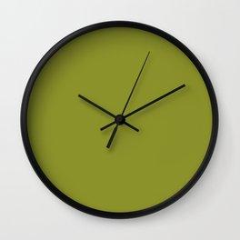 Dark Pastel Green Pepper Stem Fashion Color Trends Spring Summer 2019 Wall Clock